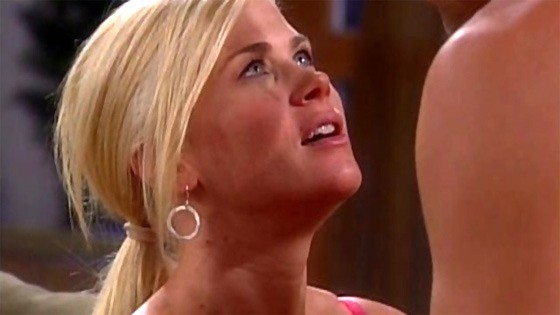 These are actual screen grabs from Days of Our Lives. Too hot to handle, according to some.