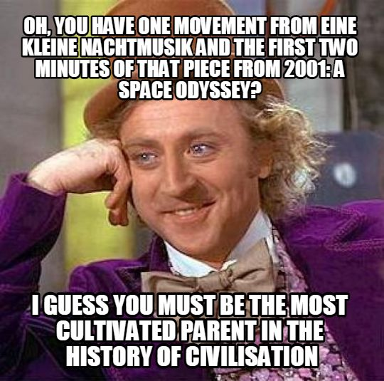 CONDESCENDING WONKA MEME ON PRETENTIOUS MUSIC FANS
