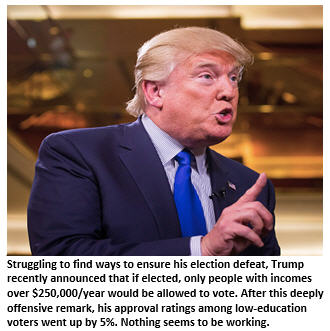 Trump - losing the election - Finger pointing