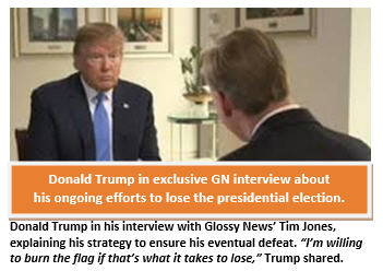 Trump - losing the election - interview - GN