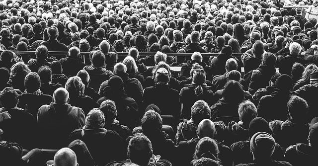 People crowd audience